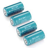 4PCS MECO 3.7v 1200mAh Reachargeable CR123A / 16340リチウムイオン電池