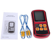 BENETECH GM1312 Digital Thermometer Dual-channel LCD Display Suhu Meter Tester untuk K/J/T/E/R/S/N Thermocouple