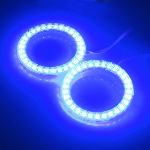Car Pair 30 LED SMD Lights Angel Eye Halo Lamps 60mm For BMW