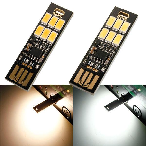 LUSTREON 1W 50LM Mini-aanraakschakelaar USB Mobile Power Camping LED-lichtlamp