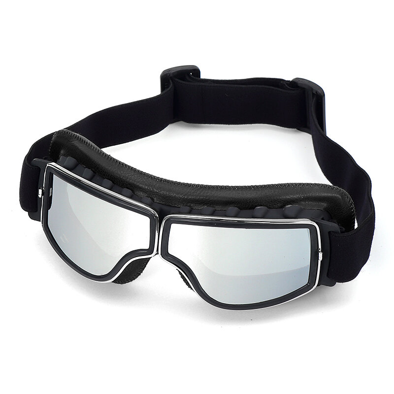 Retro Vintage Motorcycle Goggles UV Protection Cafe Racer Flying Eyewear Glasses