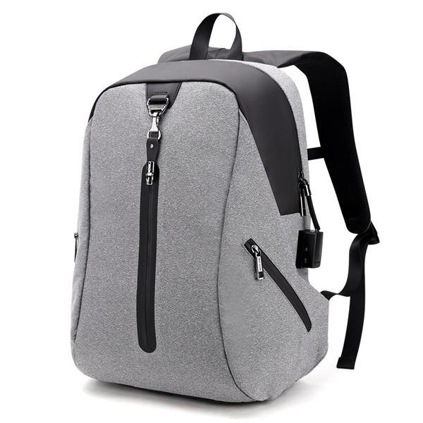Сигнализация Мужчины Противоугонные рюкзаки Водоотталкивающие деловые поездки Рюкзак для ноутбука