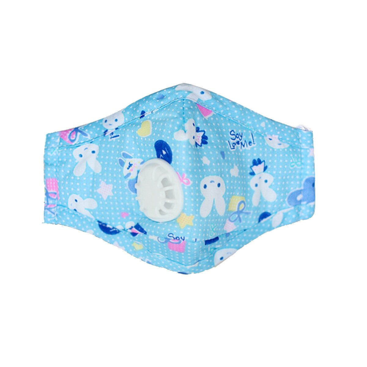 PM2.5 Kids Cotton Face Mouth Mask Child Dust-proof Anti-haze Respirator with 2 Filters
