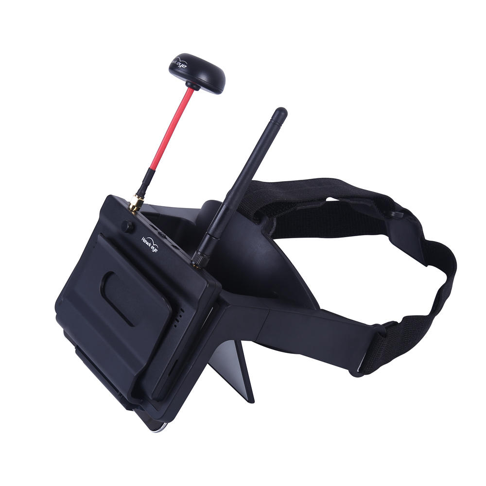 Hawkeye Little Pilot VR All-in-one 5 Inches True Diversity FPV Monitor 800x480 5.8G 48CH Dual Receiver Foldable Goggles for RC Drone