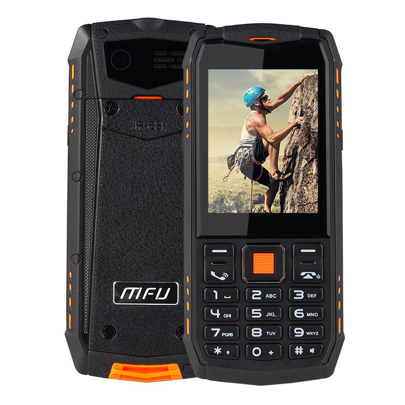 MFU A903S 3GネットワークIP68防水2.8インチ2700mAhトゥルーワイヤレスブルートゥースFM GPRSデュアルカメラデュアルSIMカード機能電話