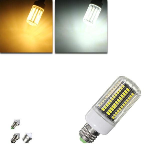 E27 E12 E14 B22 12W 140 SMD 5730 Feuerbeständige Shade LED Warm White White Cover Mais Birne AC220V