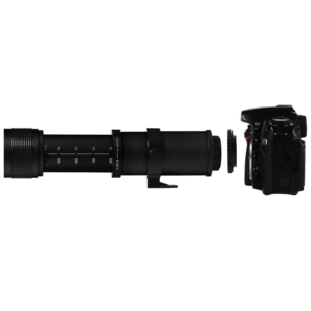 Lightdow T2 to NEX/AF/PK/AI/EOS Lens Adapter  for Lightdow 420-800mm Telephoto Lens to Canon for Nikon for Sony for Pentax DSLR Camera