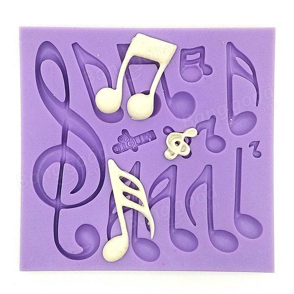 ミュージカルノートフォンダンケーキ金型シリコンチョコレート金型ベーキングケーキ装飾ツール