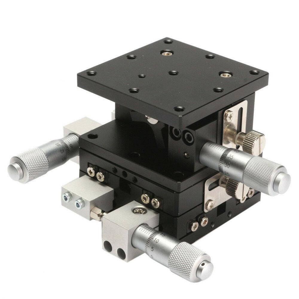 Tabella di spostamento manuale regolabile della piattaforma di spostamento manuale di 3 assi della piattaforma lineare di 60x60mm XYZ