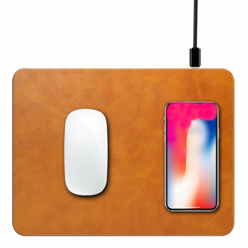 Qi Wireless Charger Fast Charging Mouse Pad For Samsung Galaxy Note 8/S8/S8 Plus/iPhone X/iPhone 8 Plus/8