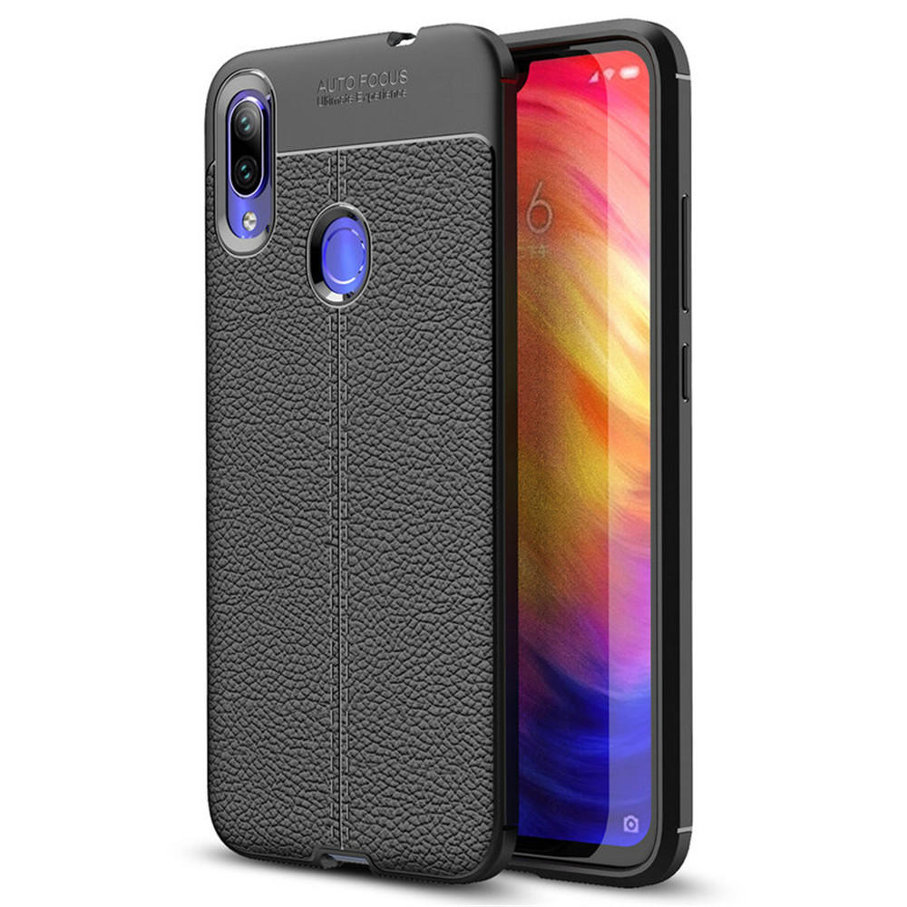 Bakeey™ Litchi Pattern Shockproof Soft TPU Back Cover Protective Case for Xiaomi Redmi Note 7 / Note 7 Pro