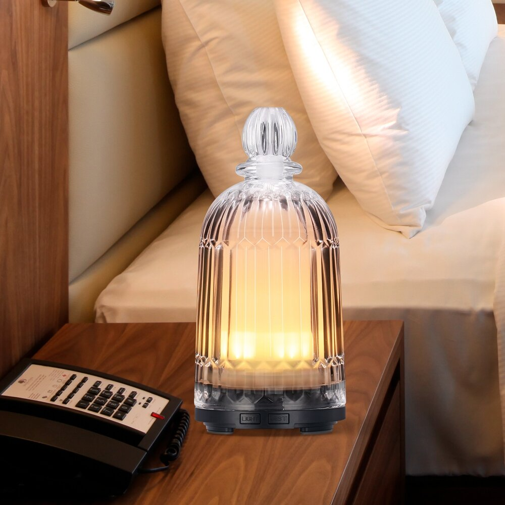 ARILUX® Colorful LED Glass Air Humidifier Aromatherapy Diffuser Night Light Home Office AC100-240V