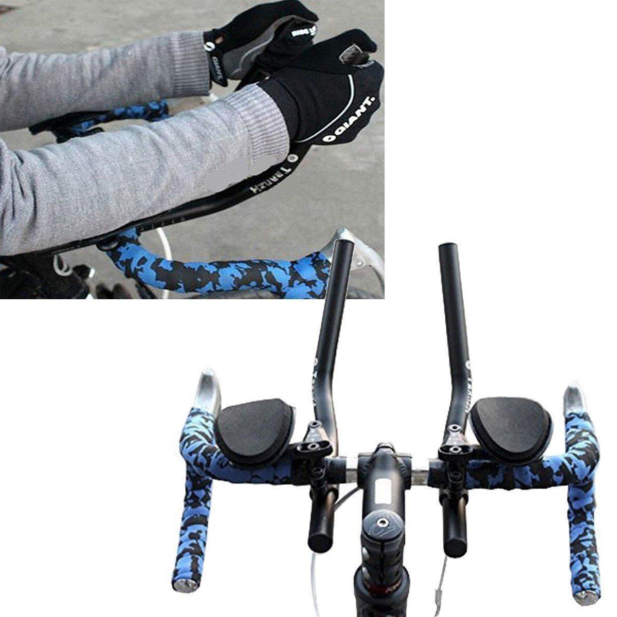 自転車マウンテンバイクセパレートTT合金PVCレストハンドルバーリラクゼーションバイスハンドルバー