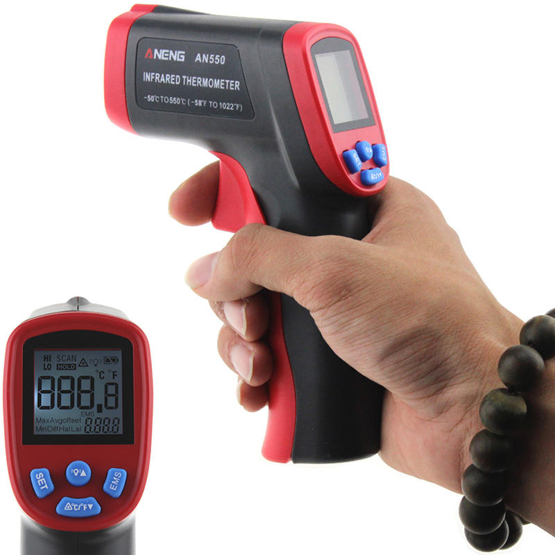 ANENG AN550 Digital Infrared Thermometer Temperature Tester Pyrometer -50~550℃ ℃/℉ Selection Outdoor