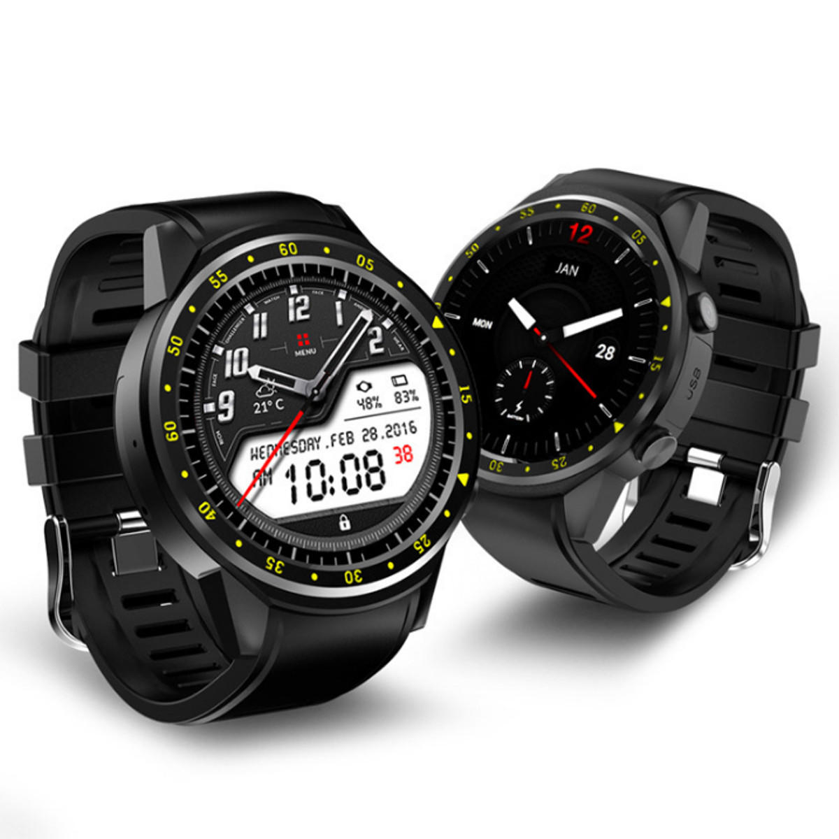 Bakeey F1 Heart Rate Sleep Monitor GPS Altitude Air Pressure Detect Sim Card Extension Smart Watch