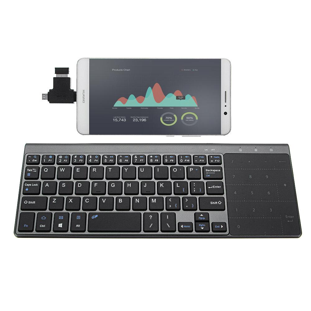 ラップトップデスクトップコンピュータ用タッチパッド付きJP136超薄型2.4GHzワイヤレスキーボード