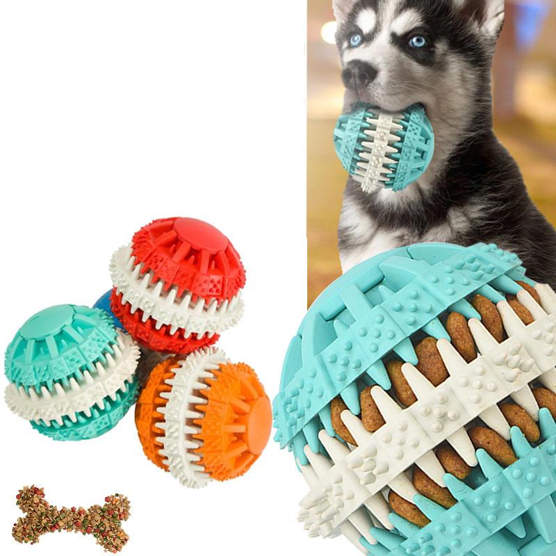 Dog Chew Pet Toys Pet Clean Teeth Chew Rubber Dumbbell Bone