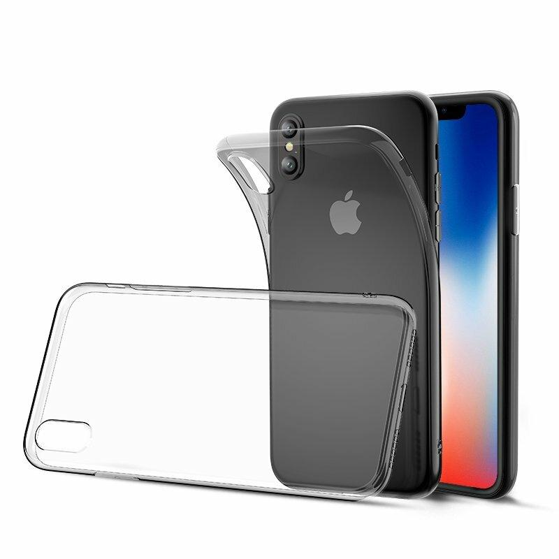 Bakeey Limpar Transparentee Soft TPU Protective Caso Para iPhone XS / X