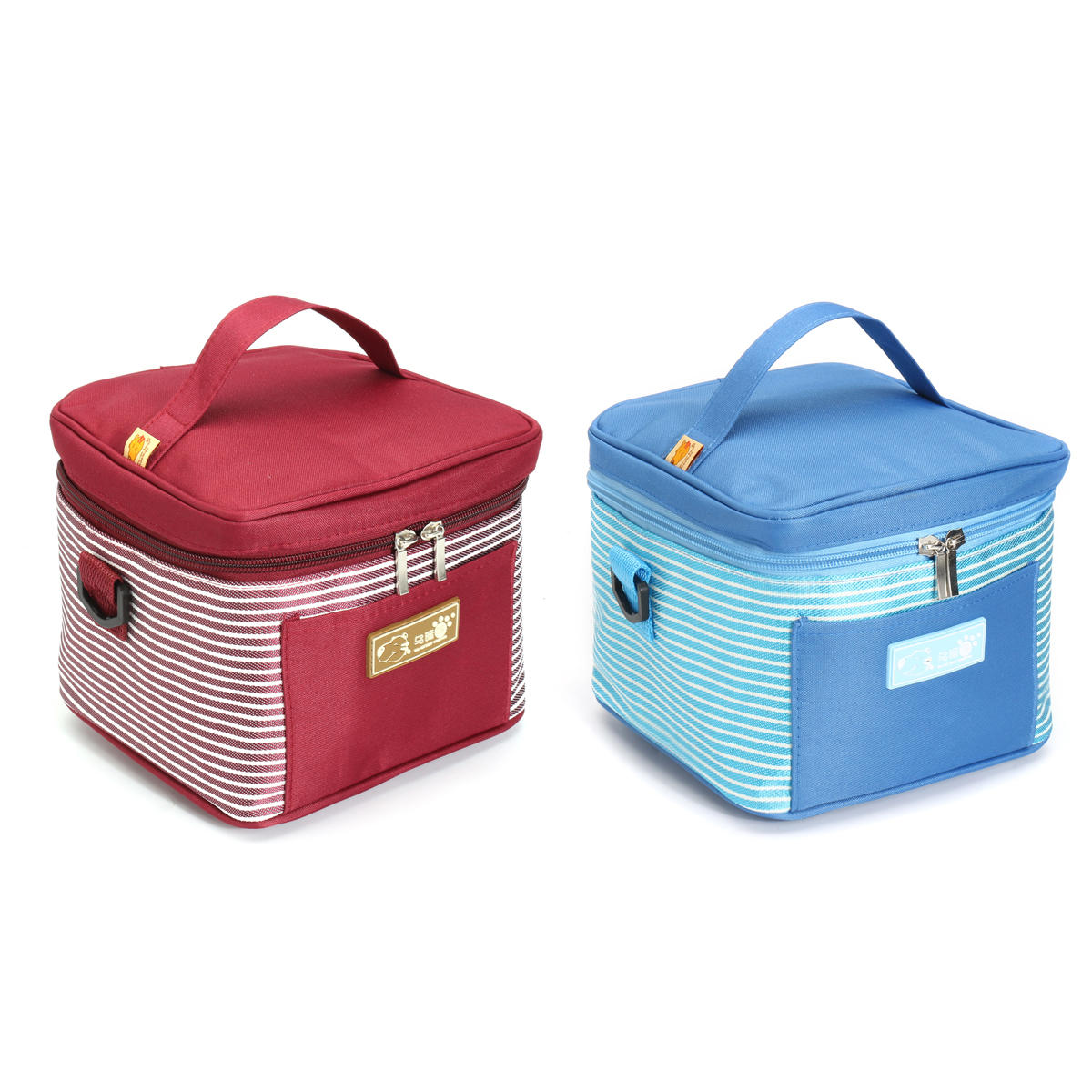 IPRee Portable Travel Insulated Thermal Cooler Lunch Box Carry Tote Picnic Storage Bag