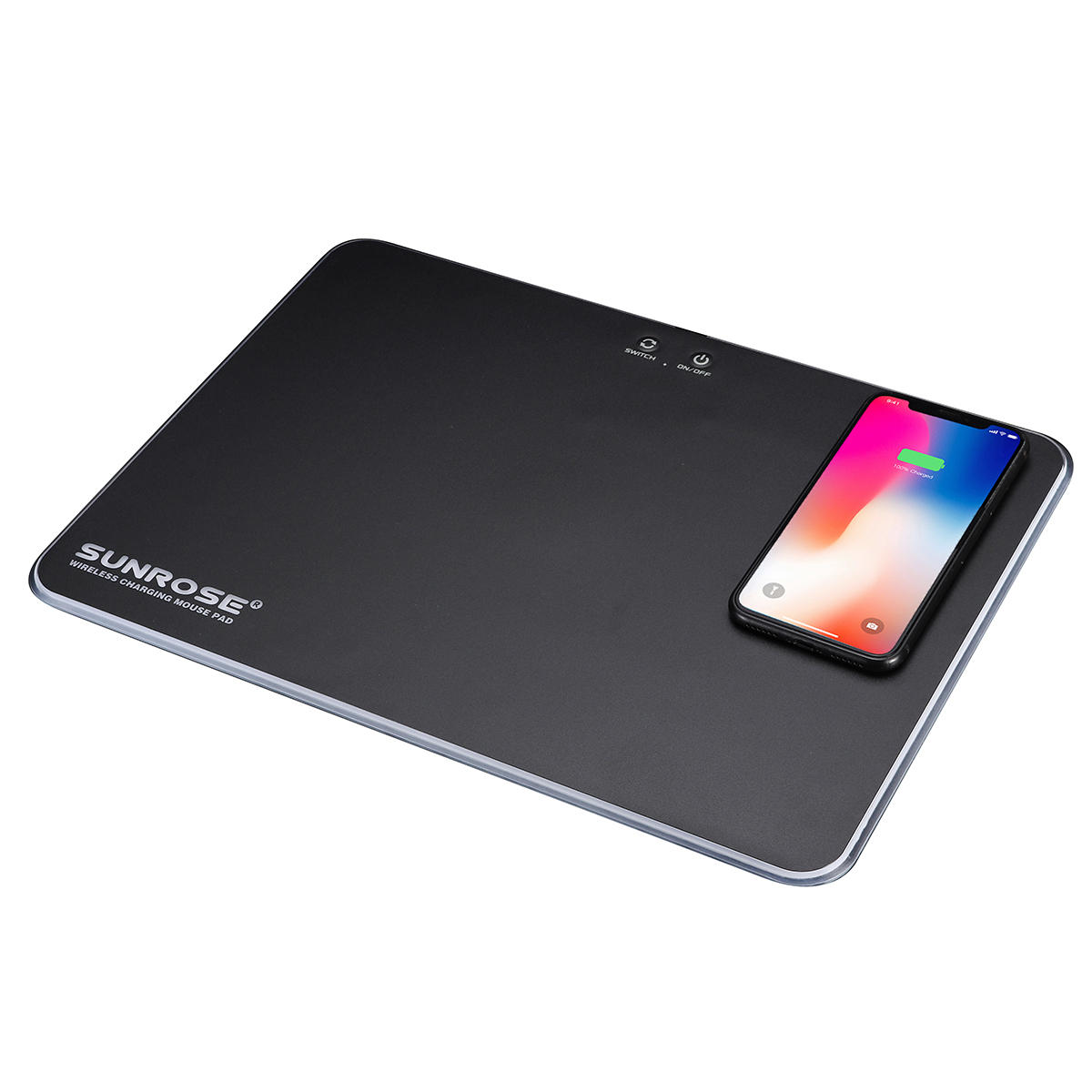 SUNROSE MP-100 RGB light Computer USB Wireless Charger Game Mouse Pad Support for Samsung 10W/ IPhone 7.5W Quick Charge New