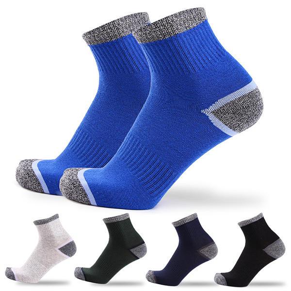 Heren Sport Ademend Katoen Middenbassokken Casual elastische verstelbare sokken