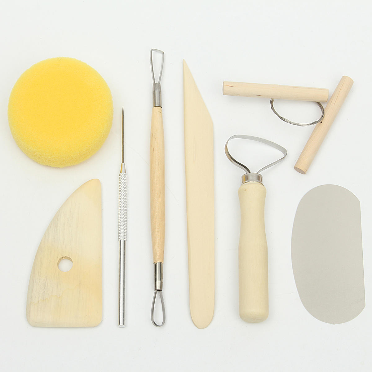 8Pcs Pottery Tools Set Clay Needle Cutter Loop Ribbon Ceramics Clay Sculpting Modeling Tool Kit