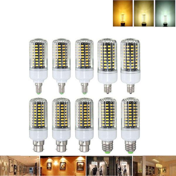 E27 E17 E14 E12 B22 9W 100 SMD 5736 LED Pure White Warm White Natural White Corn Bulb AC85-265V