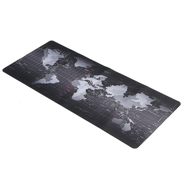 900x400x2mm Large Size World Map Mouse Pad For Laptop Computer