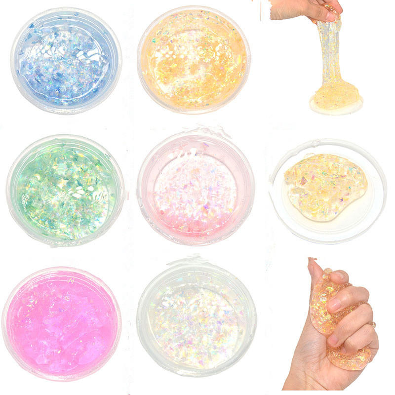 Slime 60g Crystal Galaxy Putty Fimo Plasticine Mud DIY Intelligent Creative Toy Kids Gift