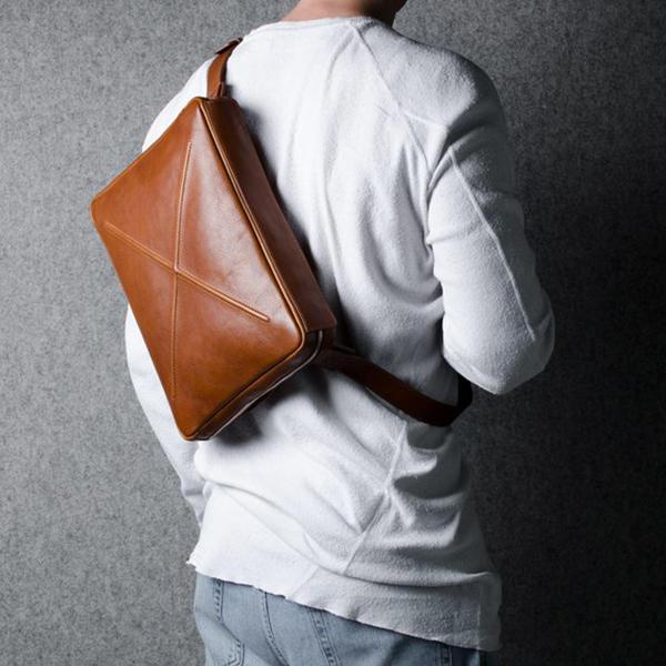Ekphero Men Solid Casual Multifunction Laptop Crossbody Bag