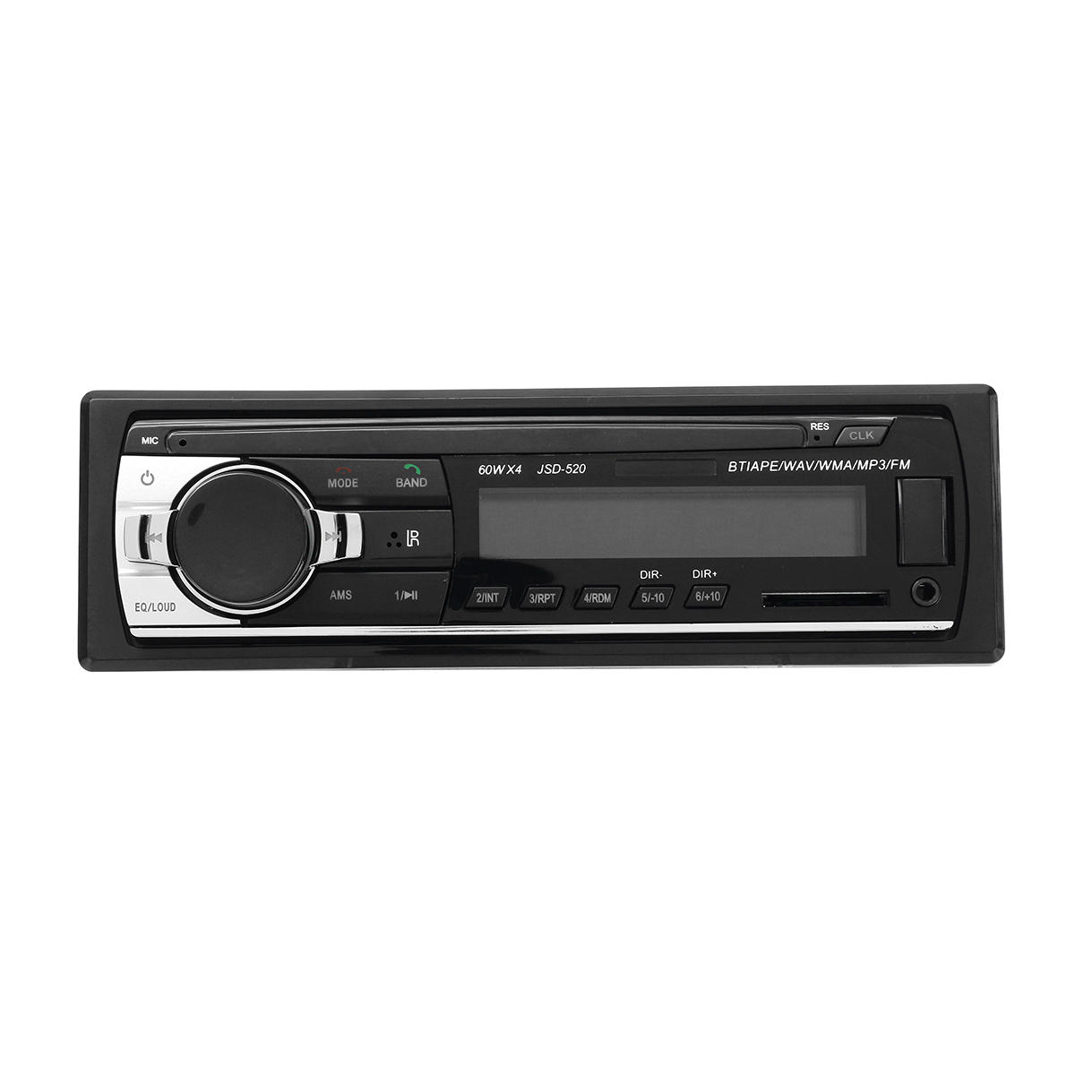 JSD520 Auto Bluetooth FM CD DVD-radio Stereo Hands-free MP3-speler Buit-in Microfoon