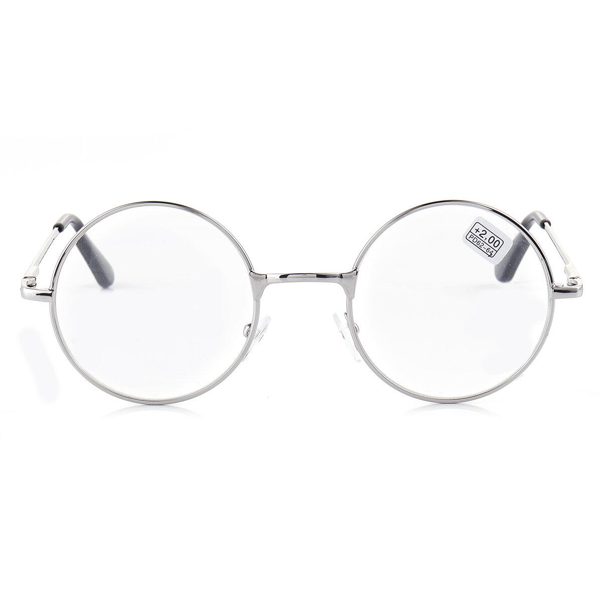 KCASA ronde metalen frame presbyope Beste leesbril lenzenvloeistof Vermoeidheid verlichten