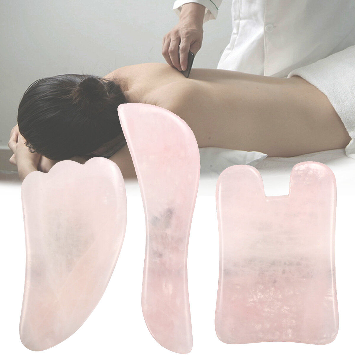 Natural Gua Sha Guasha Facial Raspagem Manual Massagem Ferramenta Quartzo Jade Board Massagemr