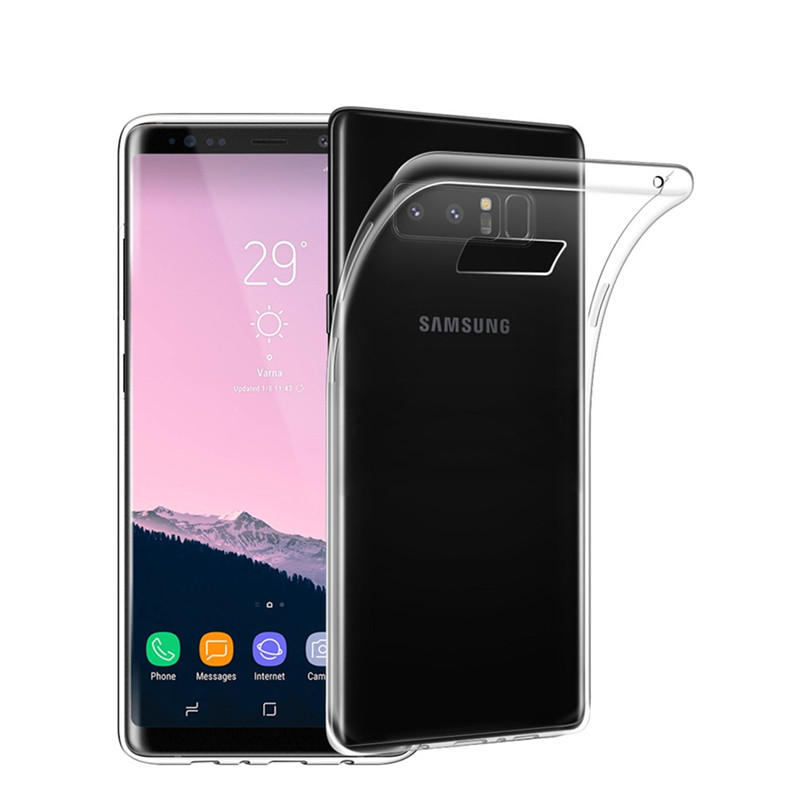 Bakeey Clear Transparent Soft TPU Case For Samsung Galaxy Note 8