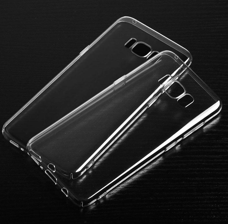 Ultra Thin Clear Transparant Hard PC Back Case Cover voor Samsung Galaxy S8