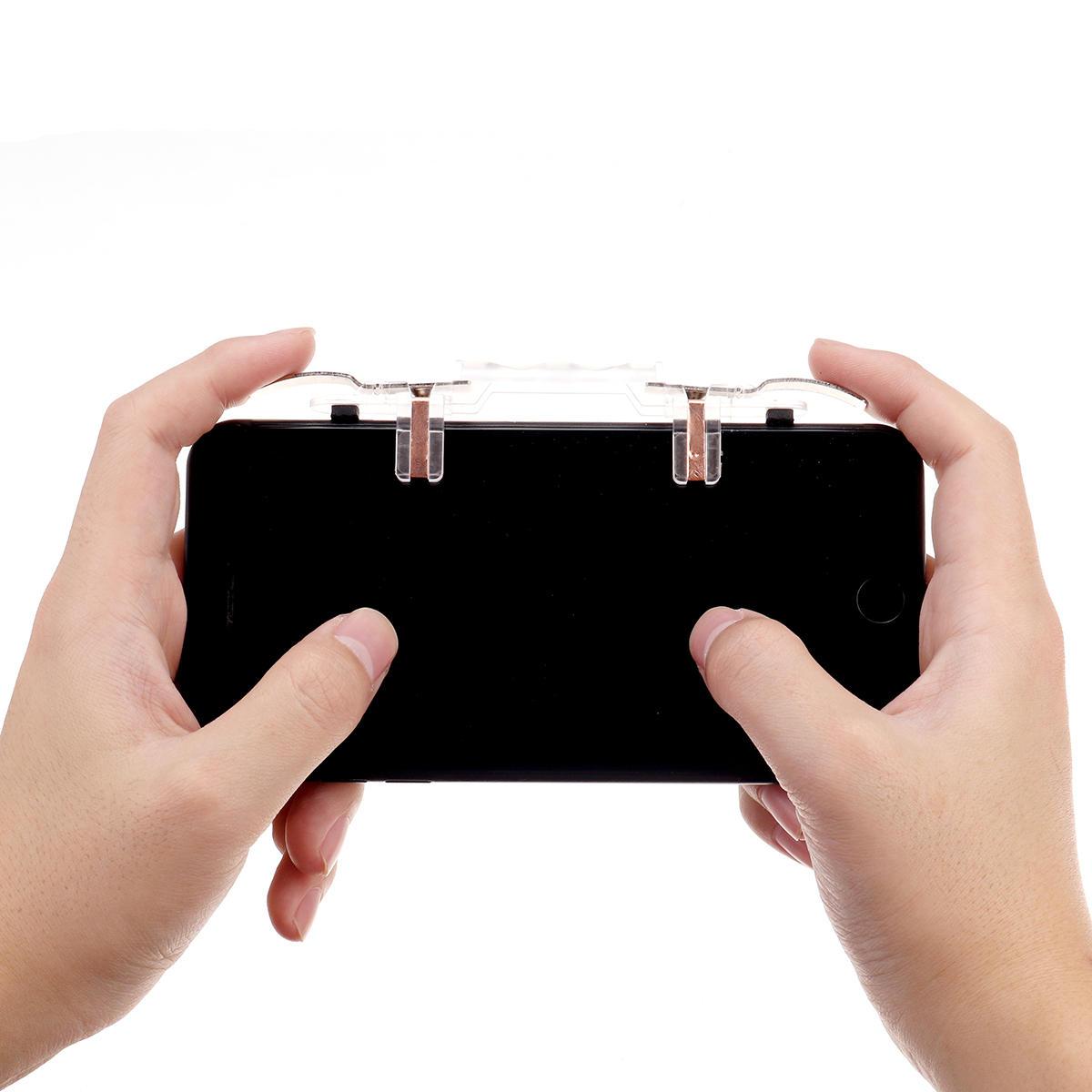 Joystic Gamepad Trigger Fire Button Assist Ferramenta de Jogo Controlador para PUBG Jogo Móvel para Smartphone