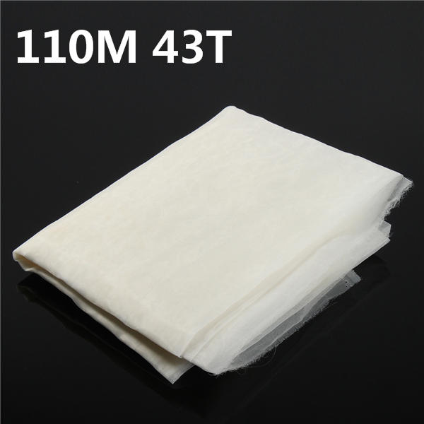 110M 43T Polyester Silk Screen Printing Mesh Fabric Sheet 3 Yards