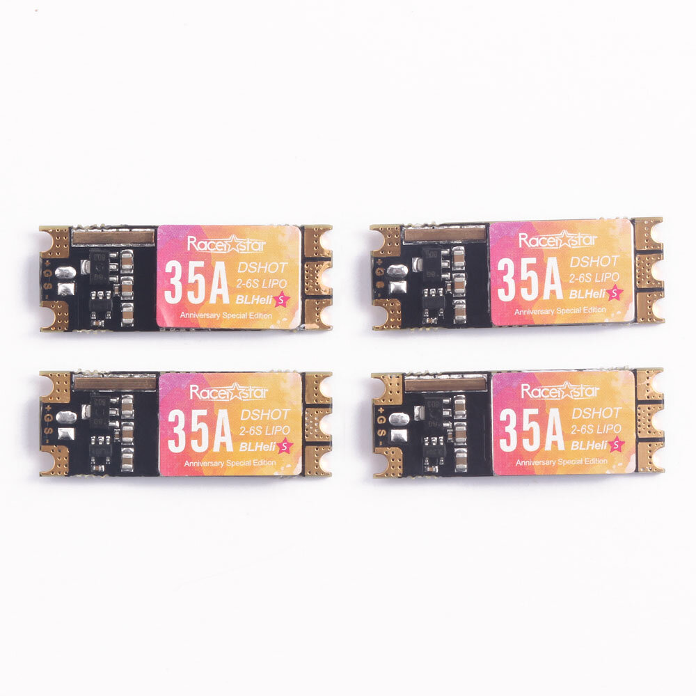 Anniversary Special Edition 4 PCS Racerstar SPROG X 35A BLheli_S 2-6S DShot600 ESC 4g for RC Drone
