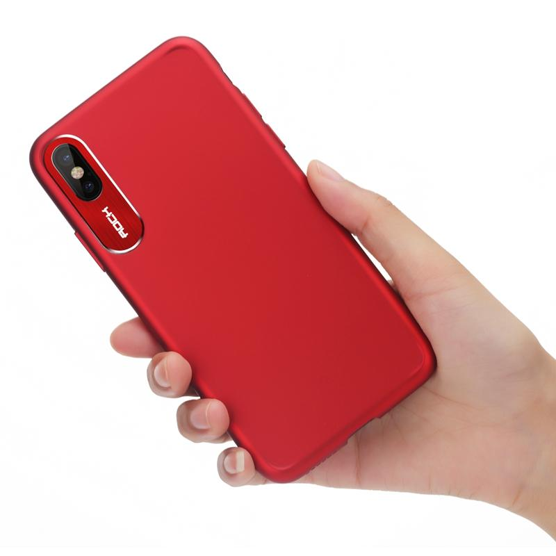 Rock Slim Camera Lens Protection Fingerprint Resistant Hard PC Case For iPhone X