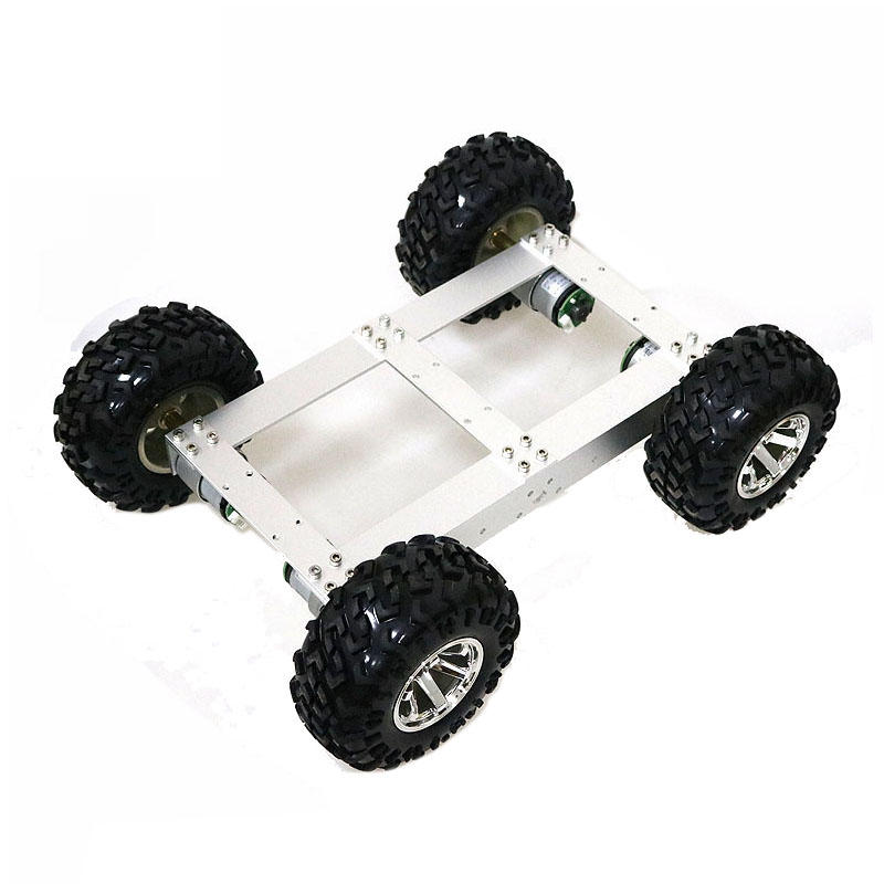 C4 4WD Smart Chassis Car Kit + 4Pcs 12v 330rpm DC Motor with Hall Encoder for DIY Educational Competition