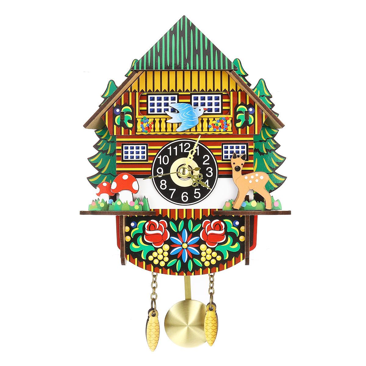 Artesanato Cuco De Madeira Relógio Casa Árvore Estilo Parede Relógio Arte Decoração Da Casa Do Vintage