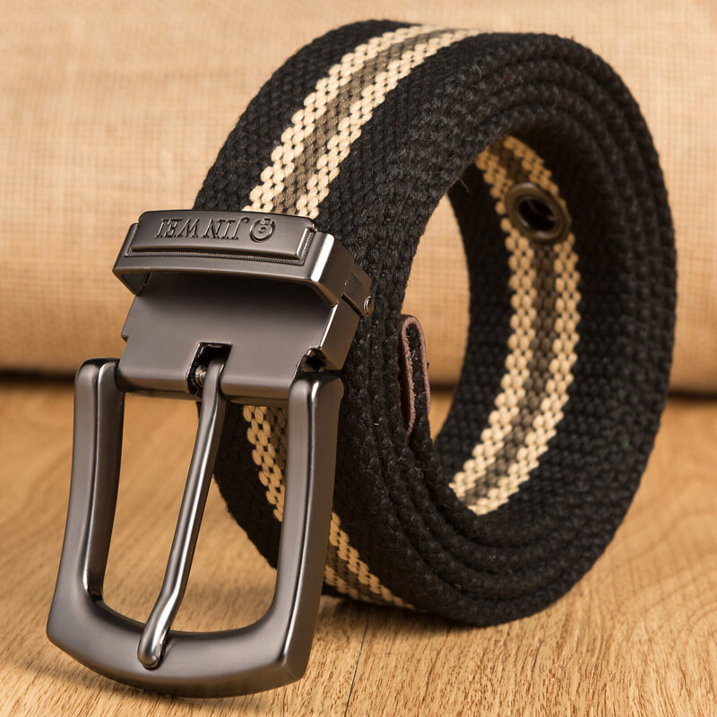 JINWEI ZK15 140cm 3.8cm Cutable Adjustable Tactical Belt Durable Canvas Casual Belt