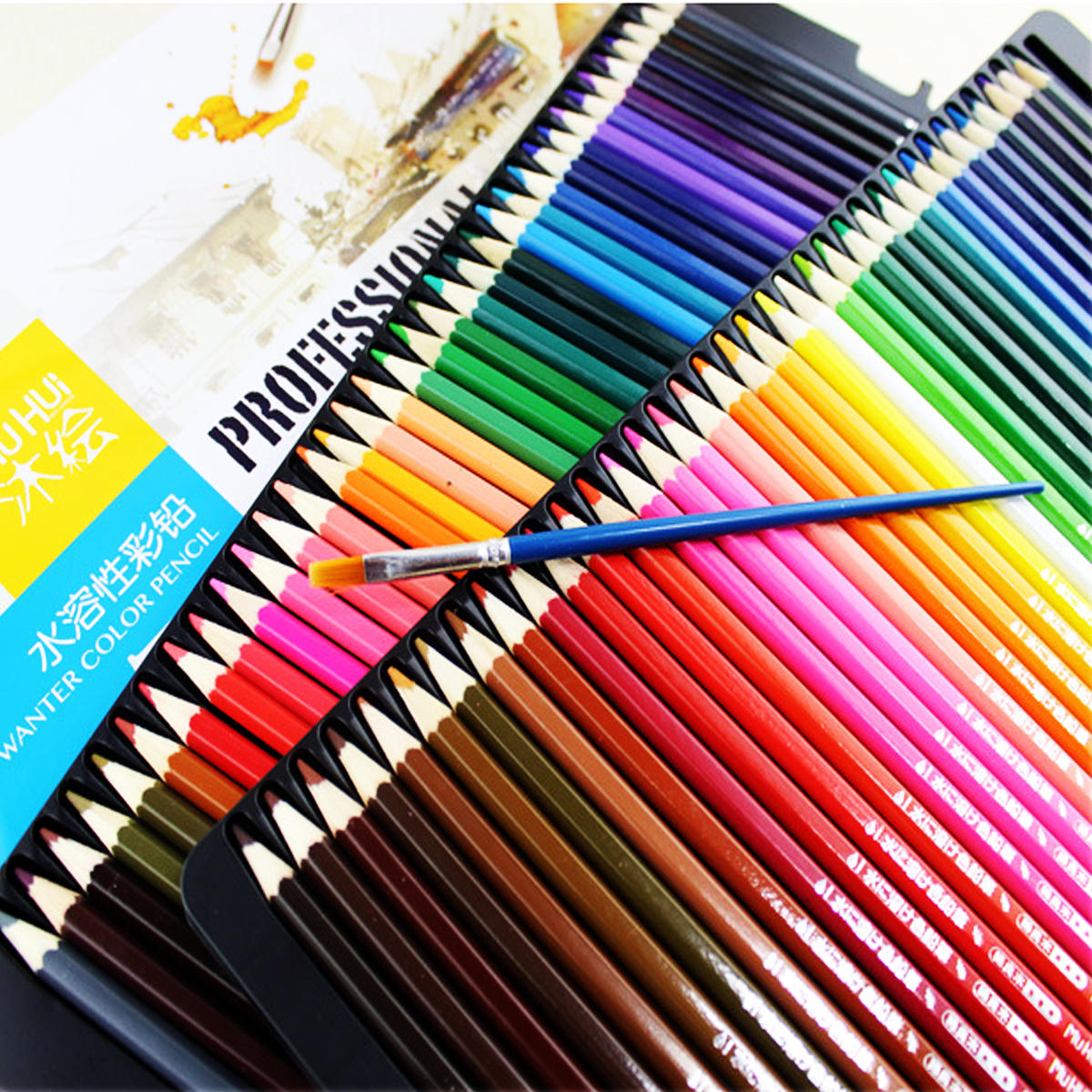 72 Lápices de colores Dibujo de arte Lápices de núcleo blando Plomo Agua Soluble Color Pen Set