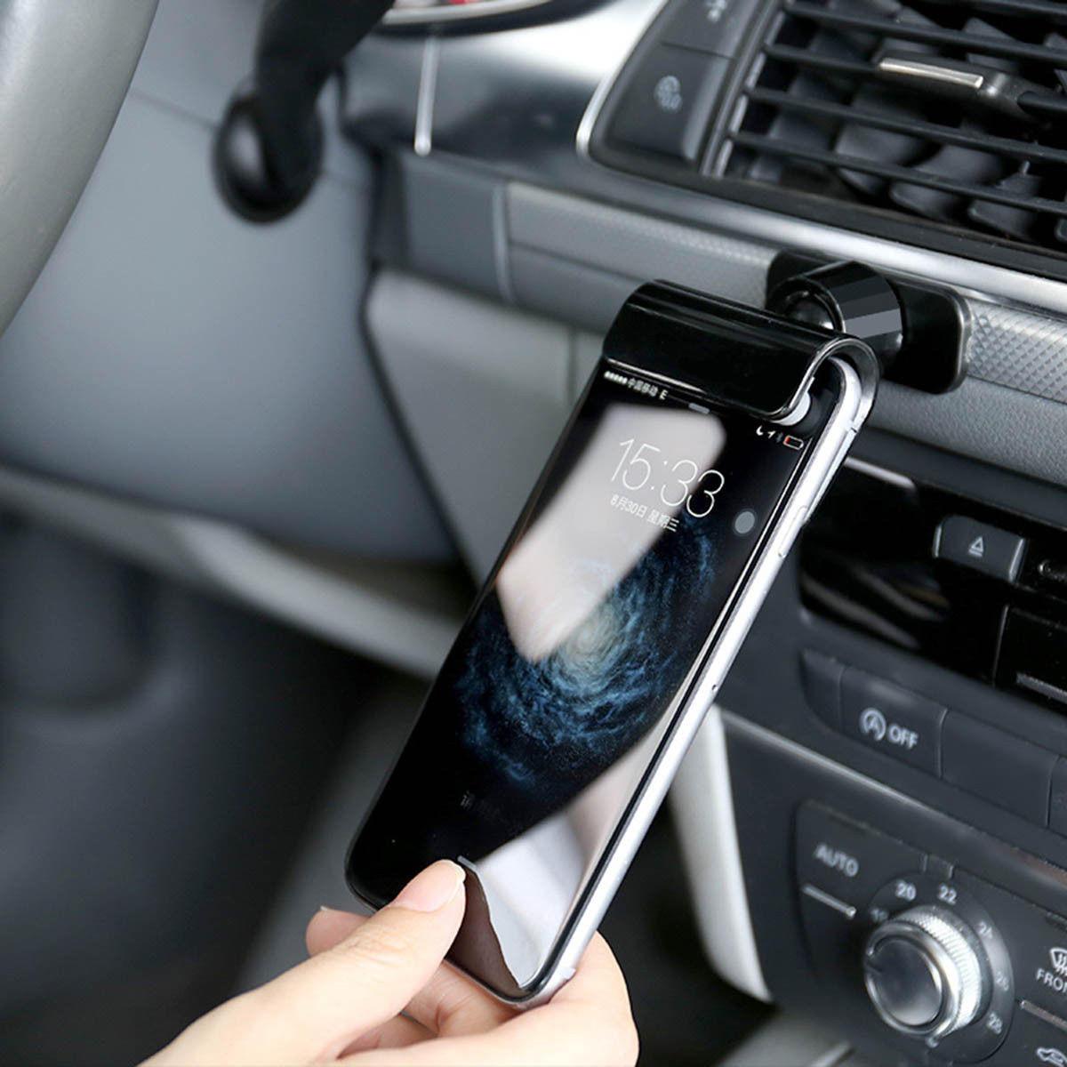 Coche Gravity Phone Clip Holder Dashboard Soporte de cinta adhesiva Soporte universal para iPhone XS XR