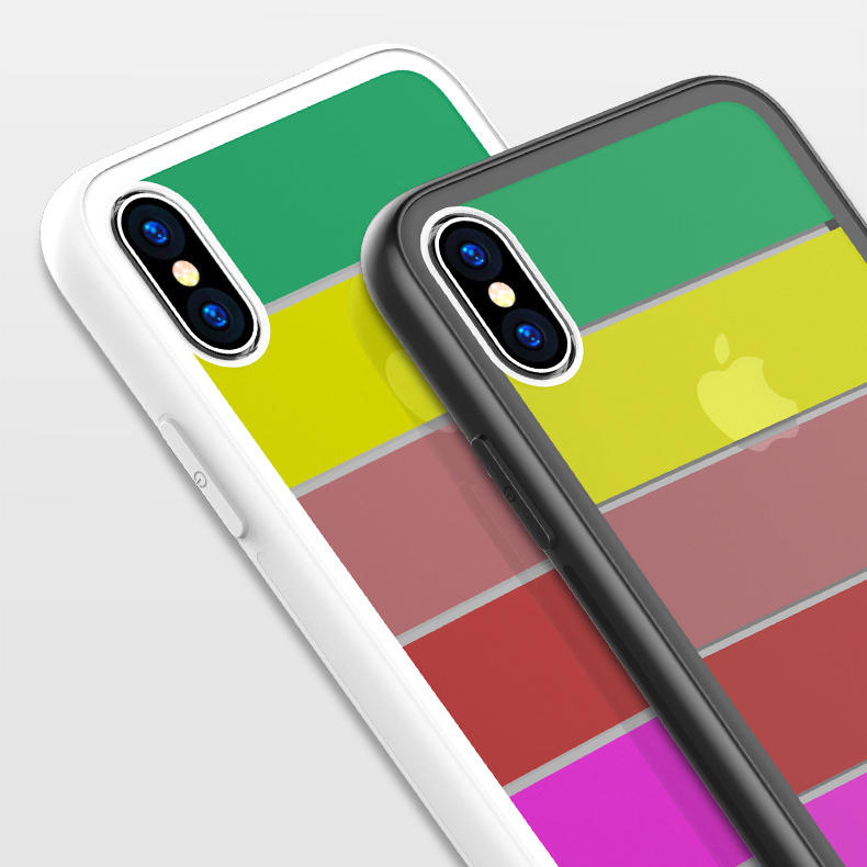 Bakeey Rainbow Tempered Glass Protective For iPhone XS/XS Max Scratch Resistant Back Cover