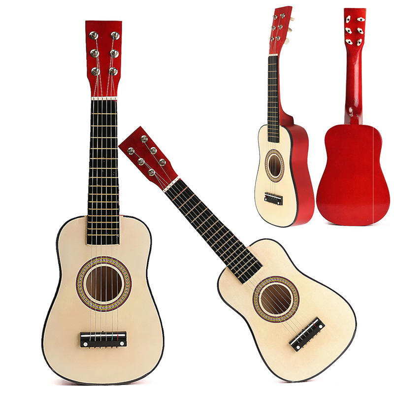 """Red 23"""" Beginners Practice Acoustic Guitar w/ 6 String For Children Kids"""