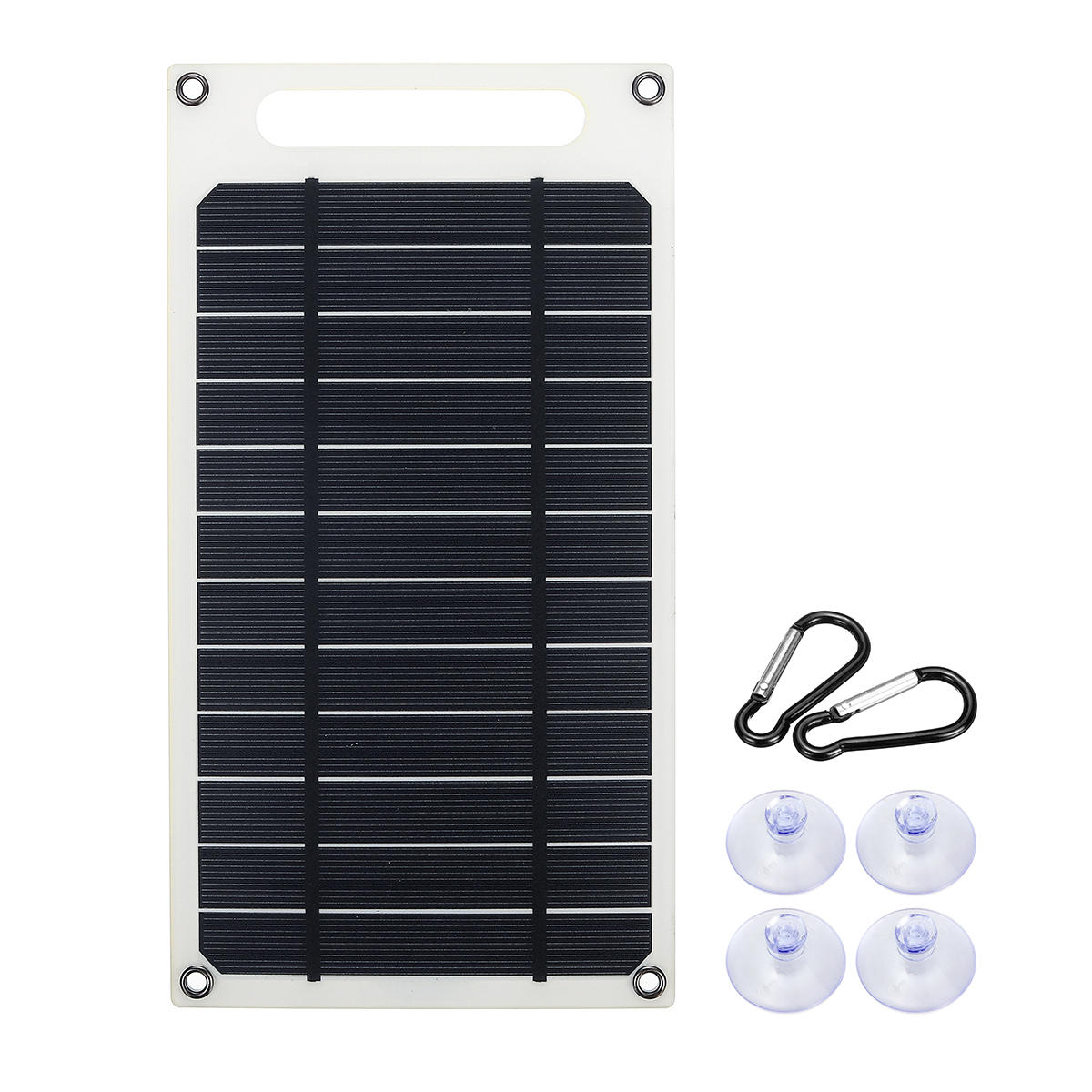 10W 6V 1500mA Monocrystalline Solar Panel USB Mobile Phone Photovoltaic Charging Power Bank