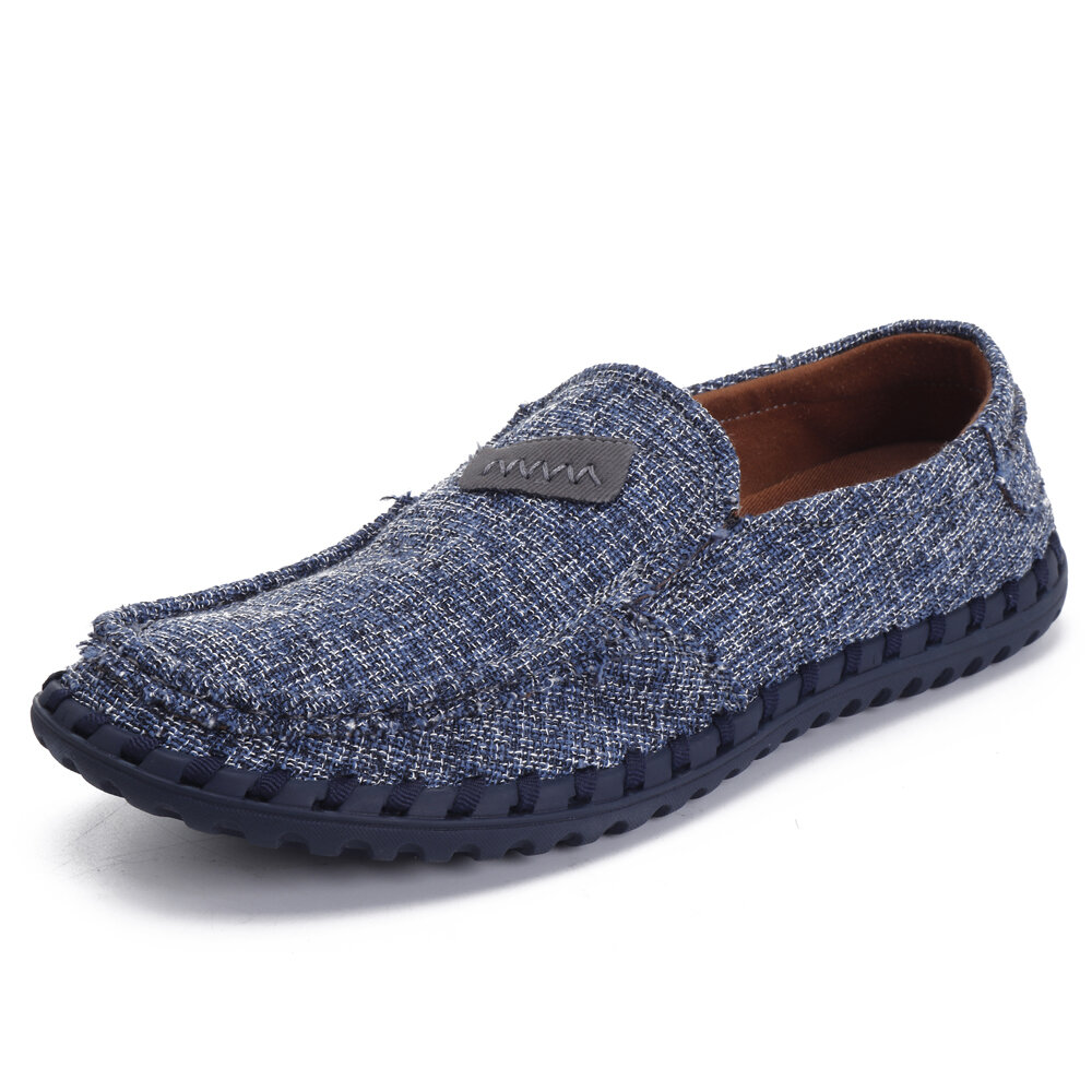 Hombre Breathable Cloth Soft Flat Loafers Slip On Shoes
