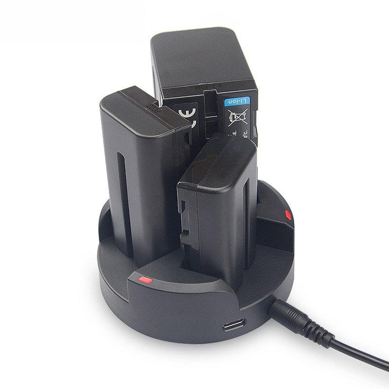 KingMa BM045 Cargador triple de 3 canales para Sony NP-F970 NP-F750 NP-F550 Serie NP-F para JVC Batería