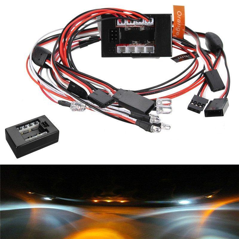 7PCS 8Leds LED Light kit Set Brake Turn Signal For 2.4G 1/10 RC Car Parts Accessories